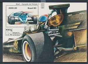[337713] Brazil auto racing good very fine MNH sheet