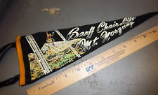 Banff Canada Mt. Norquay Chair lift vintage Pennant, great collectible