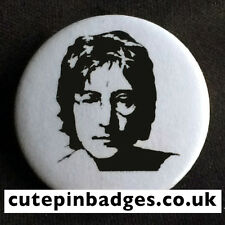 "John Lennon Badge (25mm/1"") Pin Button Beatles Instant Karma Oh Yoko! Backbeat"