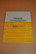 Werkstatthandbuch Reparatur Toyota Corolla EE90 AE92 CE90 Kollisionsschäden 1987