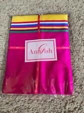$195! Nwt Ann Gish Big Stripe Vibrant Multicolor Euro Pillow Sham - Gorgeous!