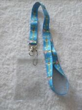 SPONGEBOB SQUAREPANTS LANYARD & Clear Plastic ID CARD BADGE PASS HOLDER Blue