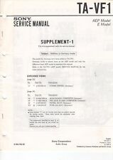SONY - TA-VF1 - AEP E Model - Service Manual Supplement-1 - B3840