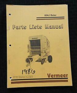 GENUINE VERMEER 604J 604 SERIES BALER PARTS CATALOG MANUAL VERY GOOD SHAPE