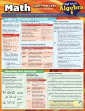 Math Common Core Algebra 1 9Th Grade: By BarCharts, Inc.