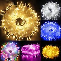 10/20/30/50/100M LED Lichterkette Innen Außenlichterkette Weihnachten Wasserfest
