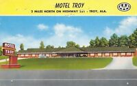Troy Alabama~Motel Troy~1961 Postcard
