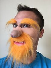 Funny Half Face Dick Nose Mask Scotsman Ginger Beard Brows Willy Masks Stag