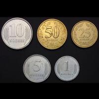 [D-1] Transnistria Set 5 Coins, 1, 5, 10, 25, 50 Kopeek, 2000-2005, UNC