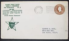 Patriotic American Star cachet US envelope East Rutherford GS USA lettera (y-377