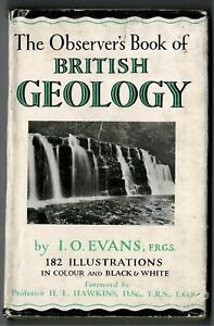 The Observers Book of British Geology - 1949 1ST ED DUST JACKET LOVELY COPY!!