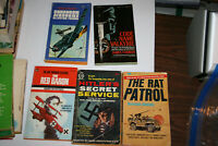 WWI WWII 5 Paperback novels Rat Patrol Squadron Airstrike Red Baron Valkyrie