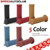 """1 Pair Motorcycle 7/8"""" Handle Bar Hand Grips Rubber Gel For Cafe Racer Dirt Bike"""
