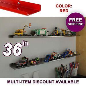 """36"""" ultraLEDGE Red LEGO Display / Shelf"""