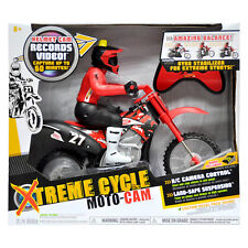 Xtreme Cycle Moto-Cam Red/Black Remot Control Motorcyle Records Video Helmet Cam