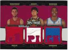 2006-07 TRIPLE THREADS RELICS: BARGNANI/ANDREW BOGUT/DWIGHT HOWARD #33/36 COMBOS