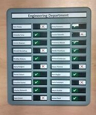 Staff In Out Attendance / Fire Drill Muster Board With Space For 20 Names