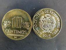 PIECE de MONNAIE COIN PEROU PERU 10 CENTIMOS 2015 NEUVE NEW UNC