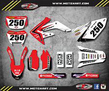 Honda CRF 250 X - 2004 / 2017 Full  Custom Graphic Kit REBOUND STYLE decals