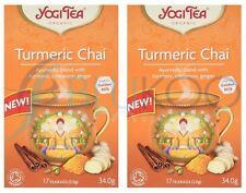 Yogi Tea Turmeric Chai - 17 Teabags (Pack of 2)