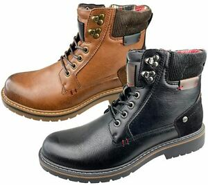 Mens Ankle Chukka Boots High Top Hiking Casual Wide Fit Lace Up Outdoor Shoes
