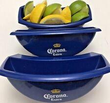 NEW RARE 3-Pc Corona Extra Bucket Caddy Lime Lemon Slice Holder Beer Party Bar