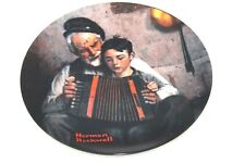 """1981 Norman Rockwell """"The Music Maker""""Knowles Collector's Plate #9572 Al"""