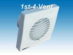 "4"" 100 dia TOILET BATHROOM EXTRACTOR FAN (BVF Standard Model) MANROSE/INTERVENT"