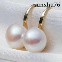 Fashion Lady Elegant Pearl Crystal Rhinestone Ear Stud Women's Earrings Jewelry