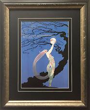 "Erte ""Fireflies"" CUSTOM FRAMED Print Art Deco Design Fancy Classy Classic Decor"