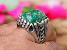 antik orient silber statement Grün Türkis Afghan green turquoise ring Nr:17/474