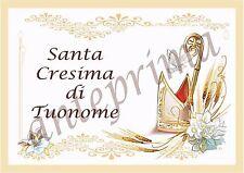 Cialda - Ostia per torte Cresima rettangolare - Anche personalizzabile!