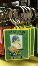 Jacobs Biscuits Keyring Retro 50s 60s Food retro Advert Sales Kitchen Cooking bn