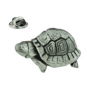 Tortoise Pewter Lapel Pin Badge XDHLP1355