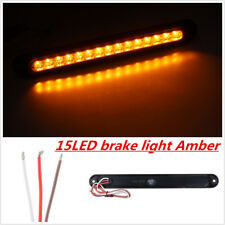15 LED Trailer Truck Stop Tail Brake Yellow Light Bar 250mm x 27.5mm x 16mm