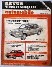 "RTA 06/1986; Peugeot 309 GR-SR-GT/ Evolution Alfa Roméo ""Alfasud"" Berline et cou"
