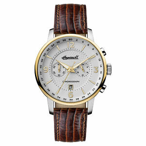 Ingersoll Men's I00602 Grafton White Dial 42mm Leather Watch