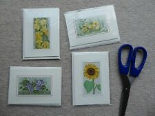 4 Cash's flower woven cards.