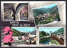 IMPERIA PIEVE DI TECO 04 SALUTI da... Cartolina FOTOGRAFICA viaggiata 1965