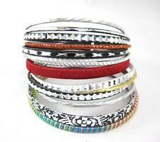 Fabulous New 14 Piece Stackable Ornate Metal Bangle Bracelet Set #B1271