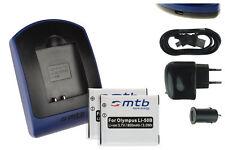 2x Baterìas + USB Cargador Li-50B para Olympus Traveller SP-815UZ / SZ-10, 14