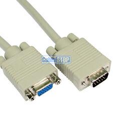 5m SVGA VGA Monitor Cable de extensión Plomo Macho-Mujer Para Pc Laptop Proyector