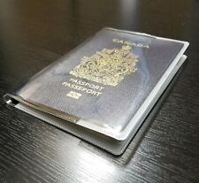 Clear Passport Cover Holder ID Organizer Document Travel Luggage