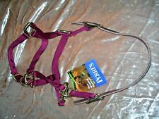 Perri's Leather Pony Safety Halter Burgundy Wine, Made in USA