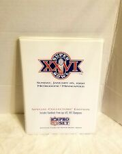 Super Bowl Xxvi Nfl Pro Set Special Collector's Edition Football Cards & Book