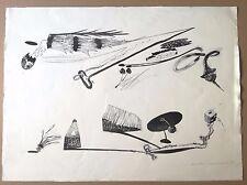 Lithographie Daniel Nadaud  estampe signée numérotée surréalisme