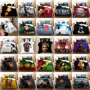 Tupac 2pac Rapper Bedding Set Bob Marley Music Duvet Cover Pillowcase Quilt Sets