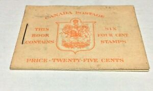Canada # BK36d George VI War Issue Booklet (1942-47) 6 x 4 Cents Pane