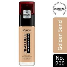 L'Oreal Paris Infallible 24H Freshwear Liquid Foundation 200 Golden Sand, SPF 25