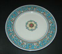 Wedgwood Florentine Turquoise Rim Center Medallion Dinner Plate Bone China 10.75